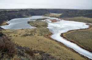 Dry Falls in Winter, near Coulee City, Washington