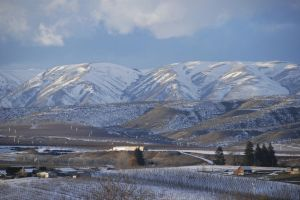Yakima Valley Dusted with Snow
