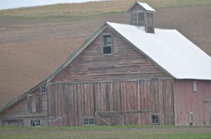 Faded Red Barn, Palouse, Washington state